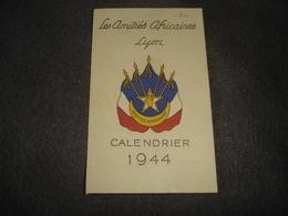 Publicités      Les Amitiés Africaines    Lyon Calendrier 1944 - Publicités