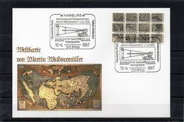 Deutschland, 2007, Brief Mit Michel 2598 Und SST, Weltkarte Von Martin Waldseemüller - Cartas
