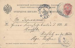 St. PETERSBURG - 1889  , Ganzsache  Nach Rochlitz - 1857-1916 Imperium