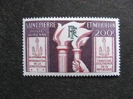 Saint Pierre Et Miquelon: TB PA N°26, Neuf X. - Poste Aérienne