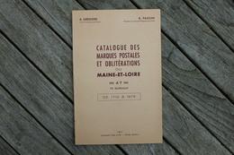 Catalogue Des Marques Postales Et Oblitérations Du Maine Et Loire Grégoire Passini 1961 - Frankrijk