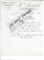 70 - Haute-saône - MONTBOZON - Facture MOUCHET - épicerie, Mercerie, Broderies - 1917 - REF 87E - France