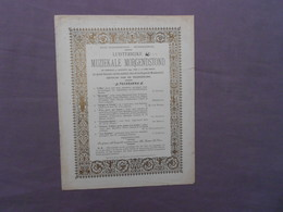 Stedelijke Muziekschool Dendermonde Termonde 1892 Muziekale Morgendstond - Documenti Storici