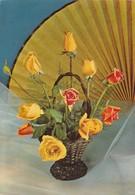 PANIER AVEC ROSES FLEURES FLOWERS BOUQUET. FABRIKAITIONSPROGRAMM. NOLLEN & CO ADVERTISING.-TBE-BLEUP - Bloemen
