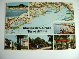 MARINA DI S. CROCE DI TORRE DI FINE  VENEZIA   Carte Geographique   CARTINA GEOGRAFICA   MAPPA MAPS   VIAGGIATA - Carte Geografiche