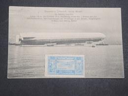 ALLEMAGNE - Vignette D 'Aviation Sur Carte Postale De Zeppelin En 1909 - L 14724 - Germany
