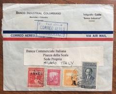 COLOMBIA CORREO AEREO TRANSOCEANICO  DA MANIZALES A MILANO  COVER BANCO INDUSTRIAL COLOMBIANO - Colombia