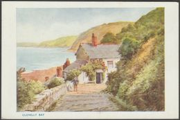 Sylvester Stannard - Clovelly Bay, Devon, C.1930s - Photochrom Postcard - Clovelly