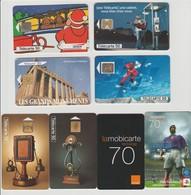 France : A VOIR !!!  Lot De 8 Télécartes En Très Bon état - Phonecards