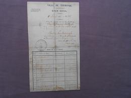 Etat Civil Burgerlijke Staat  1835 Dendermonde Termonde Pauline Van Heirewegh Oudegem 1815  Trouwboekje Huwelijk - Historical Documents