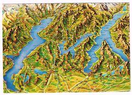 V2326 Lago Maggiore - Lugano - Como - Carta Geografica Map Carte Geographique / Viaggiata 1985 - Carte Geografiche
