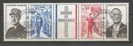 1971 - GENERAL DE GAULLE - BANDE 1698A Oblitérée (o) - Used Stamps