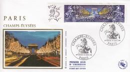 FRANCE - FDC SOIE - YvN° 2918 - PARIS CHAMPS ELYSEES - CACHET 1er JOUR 31.12.1994 PARIS  /1 - 1990-1999