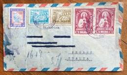 BOLIVIA RACCOMANDATA PAR AVION  VIA NEW ORLEANS + MIAMI + ARRIVATA IN ITALIA DOPO 1 ANNO 5 MAGGIO - 6 GIUGNO.... - Bolivia