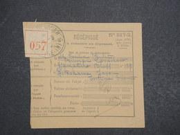 FRANCE - Récépissé De Recommandé Du Pouliguen Pour Yokohama En 1935 - L 14733 - 1921-1960: Periodo Moderno