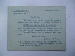 St AMANDSKRING 1925  ST AMANDSBERG - Faire-part