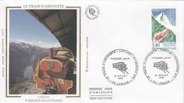 FRANCE - FDC SOIE - YvN° 2816 - LE TRAIN D'ARTOUSTE P.O. - CACHET 1er JOUR 10.7.1993 LARUNS 64  /2 - 1990-1999