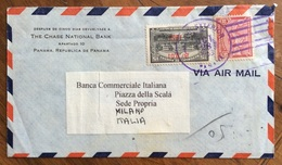 PANAMA  BUSTA PAR AVION DA  PANAMA A MILANO  DELLA THE CHASE NATIONAL BANK  IN DATA 28/10/1953 - Bolivia
