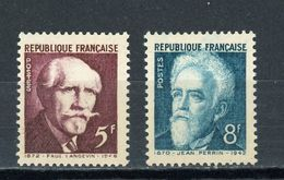 FRANCE -  LANGEVIN & PERRIN - N° Yvert  820 + 821** - France