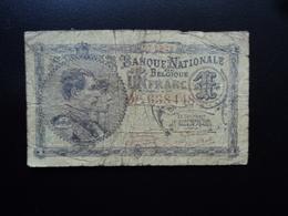 BELGIQUE : 1 FRANC  05.05.1920   P 92   Presque TB / About FINE - [ 2] 1831-... : Belgian Kingdom