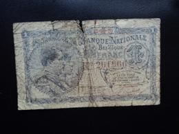 BELGIQUE : 1 FRANC  22.09.1920   P 92   B / VG - [ 2] 1831-... : Belgian Kingdom