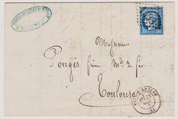 Cérès N° 60 A Position 30 B2 GC 1533 Foix-sur-Ariège Sur Lettre 2 Scans - 1871-1875 Cérès
