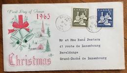 TEMATICA  NATALE  CANADA  BUSTA CHRISTMAS 1965 - 1952-.... Regno Di Elizabeth II