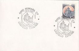 ARCHITECTURE, FERRARA- ESTENSE CASTLE, SPECIAL POSTMARKS AND STAMPS ON COVER, OBLIT FDC, 1980, ITALY - Castles