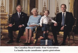 Queen Elizabeth  And Prince Charles Prince George William   ( R 27 - Familles Royales