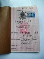 PASSEPORT Reispas  A. MICHIELS  Geb . 1904 ANSEU - Titres De Transport
