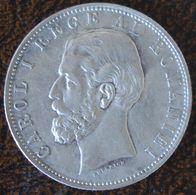(J) ROMANIA: Silver 5 Lei 1881 XF (3568)  SALE SCARCE!!!!! - Rumania