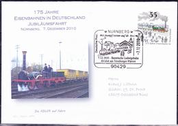 Deutschland Germany Allemagne - 175 Jahre Eisenbahn (MiNr: 2833) 2010 - Brief * - Covers & Documents