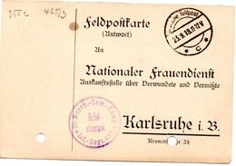 Tarjeta  Con  Franquicia Militar  Compañia De Ametralladoras Regimiento Infanteria 465. Año 1918 - Cartas