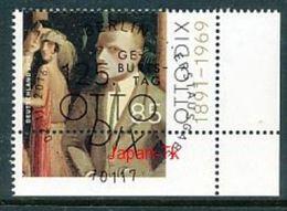 GERMANY  Mi.Nr.3267 125. Geburtstag Von Otto Dix - ESST Berlin -Eckrand Unten Rechts  -  Used - BRD
