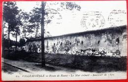 Cpa 93 VILLEMOMBLE  Route De Rosny   Mur Crenele    Souvenir De 1870 - Villemomble