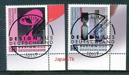 GERMANY  Mi.Nr.3271-3272  Design Aus Deutschland  - ESST Berlin -Eckrand Unten Rechts  -  Used - BRD
