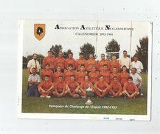 NOGARO (GERS) RUGBY CP  GRAND FORMAT D'UN FEUILLET 4 PAGES AVEC PUBS DE L'ASSOCIATION ATHLETIQUE NOGAROLIENNE 1993 1994 - Rugby
