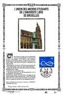 17,615 Bel Sonstamp Sony Stamps PTT Soie 615  2507    Batiments ULB Université Libre Bruxelles CS - Carte Souvenir FDC 1 - Cartas Commemorativas