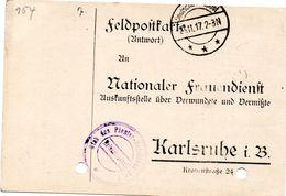 Tarjeta  Con  Franquicia Militar  Plana Mayor Del Batallo De Zapadores Nº 7 . Año 1917 - Cartas