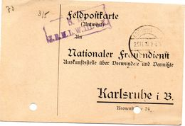 Tarjeta  Con  Franquicia Militar  J.R.M.L W. Infanteria 5 Compañia . Año 1917 - Cartas