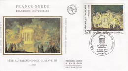 FRANCE- FDC SOIE -Yv N° 2870 - FÊTE AU TRIANON -FRANCE SUEDE RELATIONS CULTURELLES - CACHET 1er JOUR 18.3.1994 PARIS  /2 - FDC