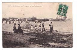 44 Le Pouliguen La Plage Vue Prise De Penchateau Cpa Animée Cachet Le Pouliguen 1908 - Le Pouliguen