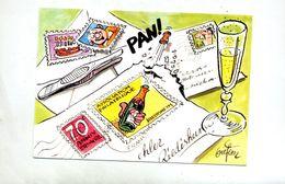 Carte Riedisheim  Anniversaire Philatelie Dessin Giefem - France