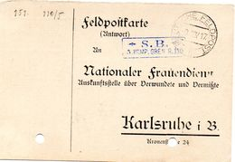 Tarjeta  Con  Franquicia Militar  3 Compañia Regimiento De Granaderos Nº 110  . Año 1917 - Cartas