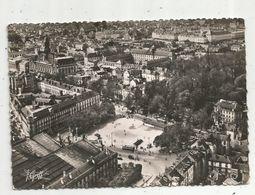 Cp, 37 ,TOURS ,vue Aérienne ,laplace De La Gare Et L'hôtel De Ville , Voyagée1952 , Ed. S.E.V.A. - Tours