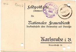 Tarjeta  Con  Franquicia Militar  Regimiento De Infanteria De Baden 3 Compañia . Año 1918 - Cartas
