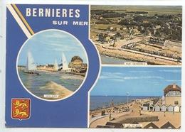 Bernières Sur Mer (Calvados) Multivues - Vue Générale Aérienne La Plage Voiliers - France