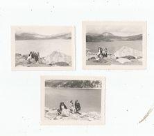 LAC DES  BOUILLOUSES (PYRENEES ORIENTALES) 3 PHOTOS DU LAC ET EXCURSIONNISTES 1946 - Places