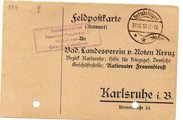 Tarjeta  Con  Franquicia Militar   Soldatenbrief Husaren-regimiento 9 . Año 1918 - Cartas