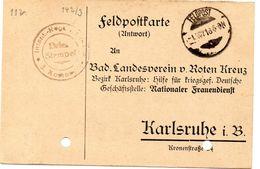Tarjeta  Con  Franquicia Militar  Regimiento De Infanteria 3 Compañia . Año 1918 - Cartas